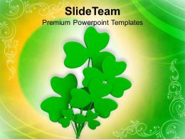 St Patricks Day Festival Clover Leaf Symbol Of Powerpoint Templates Ppt Backgrounds For Slides