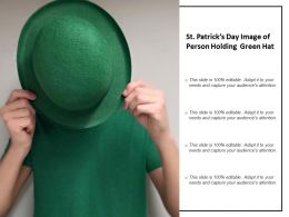 St Patricks Day Image Of Person Holding Green Hat