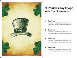 St Patricks Day Image With Four Shamrock