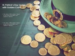 St Patricks Day Image With Golden Coins