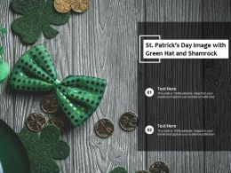 St Patricks Day Image With Green Hat And Shamrock