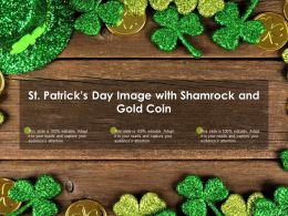 St Patricks Day Image With Shamrock And Gold Coin