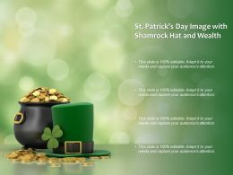 St Patricks Day Image With Shamrock Hat And Wealth