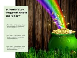 St Patricks Day Image With Wealth And Rainbow