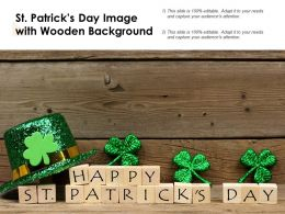 St Patricks Day Image With Wooden Background