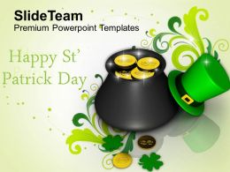 St Patricks Day Sta Elements And Greetings Templates Ppt Backgrounds For Slides