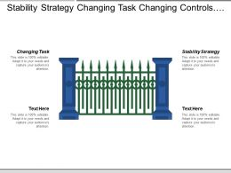Stability Strategy Changing Task Changing Controls Techniques Strategic
