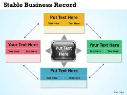 Stable Business Record Powerpoint Slides Presentation Diagrams Templates