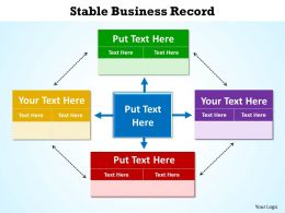 stable business record shown by boxes surrounding and circling powerpoint diagram templates graphics 712