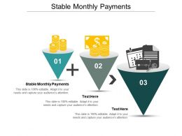 Stable Monthly Payments Ppt Powerpoint Presentation Icon Clipart Cpb