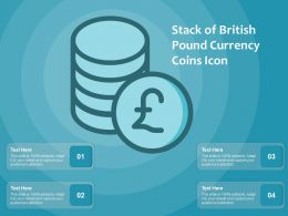 Stack Of British Pound Currency Coins Icon
