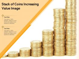 Stack Of Coins Increasing Value Image