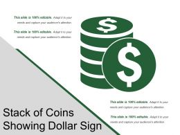Stack Of Coins Showing Dollar Sign