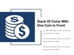 Stack Of Coins With One Coin In Front