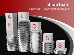 Stack Of Coins With Word Loss PowerPoint Templates PPT Themes And Graphics 0213