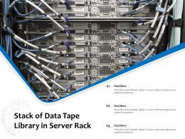Stack Of Data Tape Library In Server Rack