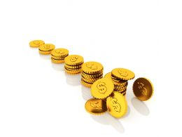 Stack Of Dollar Coins For Financial Growth Stock Photo
