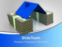 stack_of_dollar_notes_under_roof_powerpoint_templates_ppt_themes_and_graphics_0113_Slide01