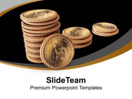 Stack Of Dollars Finance Powerpoint Templates Ppt Themes And Graphics 0213