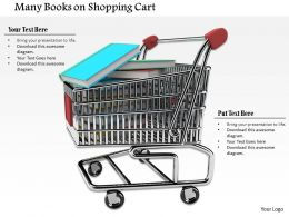 Stack Of Education Books In Shopping Cart