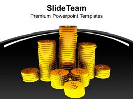 Stack Of Gold Coins Success Business Powerpoint Templates Ppt Themes And Graphics 0213