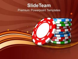 Stack Of Poker Chips Game Powerpoint Templates Ppt Themes And Graphics 0113