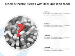 Stack Of Puzzle Pieces With Red Question Mark