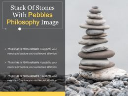 Stack Of Stones With Pebbles Philosophy Image