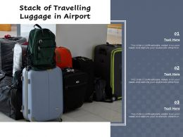 Stack Of Travelling Luggage In Airport