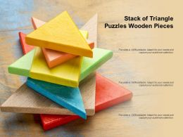 Stack Of Triangle Puzzles Wooden Pieces