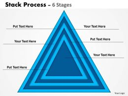 Stack Process blue triangle