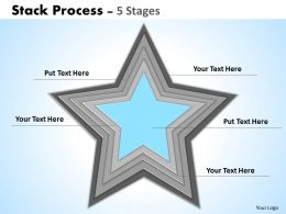 22103708 Style Cluster Stacked 5 Piece Powerpoint Template Diagram Graphic Slide