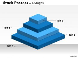 Stack Process With 4 Stages Of Business Process