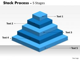 Stack Process With 5 Stages For Business
