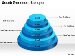 Stack Process With 6 Stages For Sales