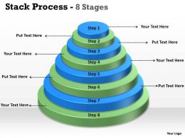 Stack Process With 8 Stages For Marketing