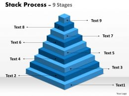 Stack Process With 9 Stages For Business Growth