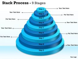 Stack Process With 9 Steps Of Growth