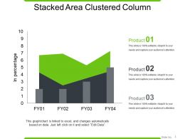 Stacked Area Clustered Column