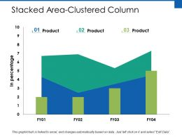 Stacked Area Clustered Column Finance Ppt Powerpoint Presentation File Infographics