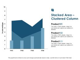 Stacked Area Clustered Column Investment Ppt Summary Background Designs