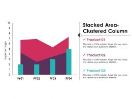 Stacked Area Clustered Column Powerpoint Slide Presentation Examples