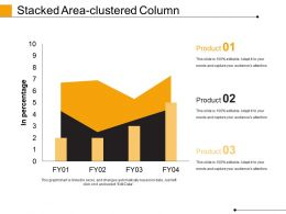 Stacked Area Clustered Column Powerpoint Slide Show