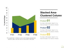 Stacked Area Clustered Column Powerpoint Templates Microsoft