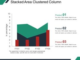 Stacked Area Clustered Column Ppt Example File
