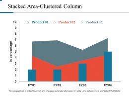 Stacked Area Clustered Column Ppt Model
