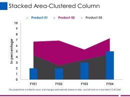 Stacked Area Clustered Column Ppt Slides