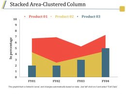 Stacked Area Clustered Column Presentation Visuals