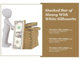 Stacked Bar Of Money With White Silhouette