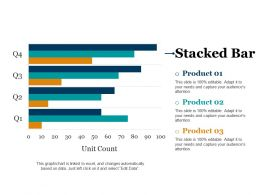 Stacked Bar Ppt Background Template